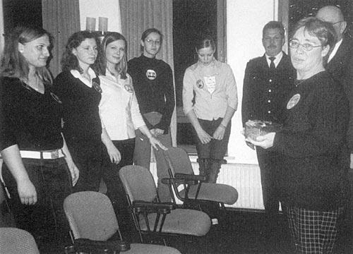 Überreichung des Bürgerpreises an die Green Kids der Realschule Travemünde