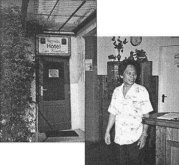 Eingang Hotel und Koch Robeto Suello