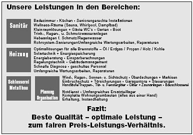 Hans-Christian Lüders GmbH - Leistungen