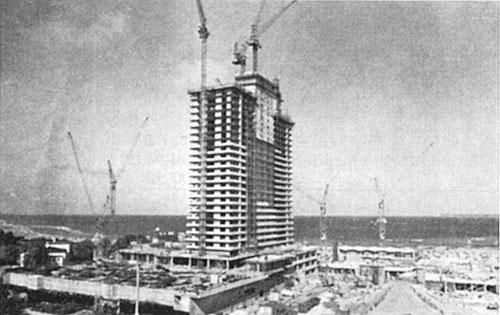 Bau des MARITIM Strandhotel Travemünde