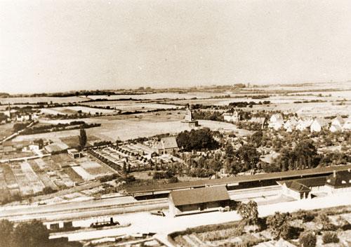 Mühlenberg 21 Travemünde - alte Luftaufnahme