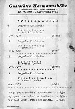 Hermannshöhe Speisekarte