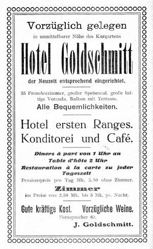Kurgartenstr. 143 - Hotel Goldschmitt
