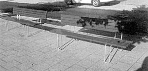neue Bänke in der Vorderreihe in Travemünde