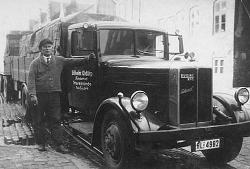alter LKW der Firma Wilhelm Oldörp