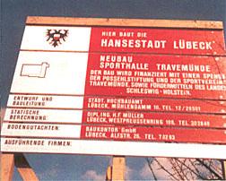 Bauschild Senator-Emil-Possehl-Halle