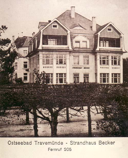 Strandhaus Becker Travemünde