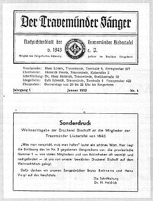 Der Travemünder Sänger Nr. 1 Januar 1952